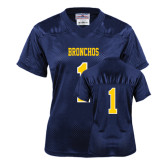 Ladies Navy Replica Football Jersey-#1