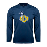 Performance Navy Longsleeve Shirt-UCO with Mascot