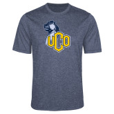 Performance Navy Heather Contender Tee-UCO with Mascot