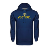 Under Armour Navy Performance Sweats Team Hoodie-Central Oklahoma Football