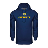 Under Armour Navy Performance Sweats Team Hoodie-Central Oklahoma Softball