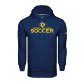 Under Armour Navy Performance Sweats Team Hoodie-Central Oklahoma Soccer