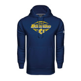 Under Armour Navy Performance Sweats Team Hoodie-Bronchos Football