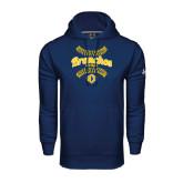 Under Armour Navy Performance Sweats Team Hoodie-Bronchos Softball