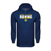Under Armour Navy Performance Sweats Team Hoodie-Central Oklahoma Rowing