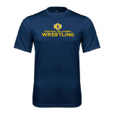 Performance Navy Tee-Central Oklahoma Wrestling