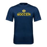 Performance Navy Tee-Central Oklahoma Soccer