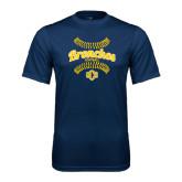 Performance Navy Tee-Bronchos Softball