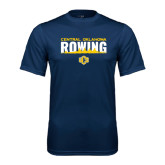Performance Navy Tee-Central Oklahoma Rowing