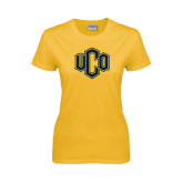 Ladies Gold T Shirt-Official Logo