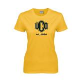 Ladies Gold T Shirt-UCO Alumni