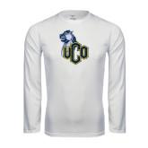 Performance White Longsleeve Shirt-UCO with Mascot