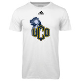Adidas Climalite White Ultimate Performance Tee-UCO with Mascot
