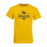Gold T Shirt-Bronchos Wrestling