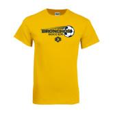 Gold T Shirt-Bronchos Soccer