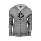 ENZA Ladies Grey Fleece Full Zip Hoodie-UCO MOM