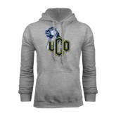 Grey Fleece Hoodie-UCO with Mascot