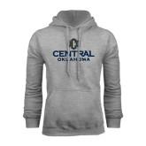 Grey Fleece Hoodie-Central Oklahoma Official Logo