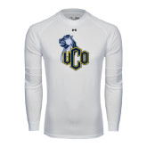 Under Armour White Long Sleeve Tech Tee-UCO with Mascot