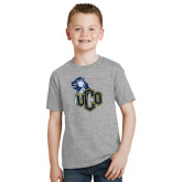 Youth Grey T-Shirt-UCO with Mascot