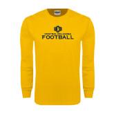 Gold Long Sleeve T Shirt-Central Oklahoma Football