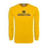 Gold Long Sleeve T Shirt-Central Oklahoma Wrestling