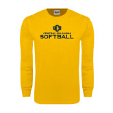 Gold Long Sleeve T Shirt-Central Oklahoma Softball