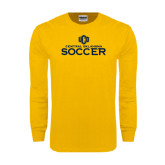 Gold Long Sleeve T Shirt-Central Oklahoma Soccer
