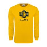 Gold Long Sleeve T Shirt-UCO Alumni