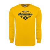Gold Long Sleeve T Shirt-Bronchos Football