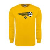 Gold Long Sleeve T Shirt-Bronchos Soccer