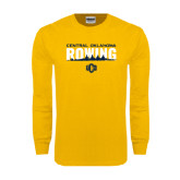 Gold Long Sleeve T Shirt-Central Oklahoma Rowing
