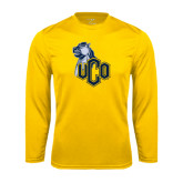 Performance Gold Longsleeve Shirt-UCO with Mascot