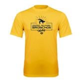 Performance Gold Tee-Bronchos Wrestling