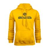 Gold Fleece Hoodie-Central Oklahoma Bronchos Official Logo