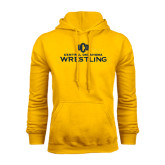 Gold Fleece Hoodie-Central Oklahoma Wrestling