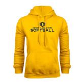 Gold Fleece Hoodie-Central Oklahoma Softball