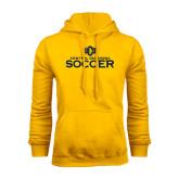 Gold Fleece Hoodie-Central Oklahoma Soccer