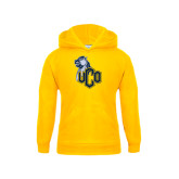 Youth Gold Fleece Hoodie-UCO with Mascot