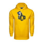 Under Armour Gold Performance Sweats Team Hoodie-UCO with Mascot