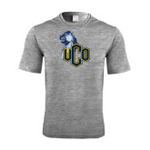 Performance Grey Heather Contender Tee-UCO with Mascot