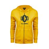 ENZA Ladies Gold Fleece Full Zip Hoodie-UCO Alumni