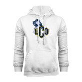 White Fleece Hoodie-UCO with Mascot
