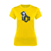 Ladies Syntrel Performance Gold Tee-UCO with Mascot