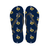 Ladies Full Color Flip Flops-UCO with Mascot