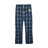 Navy/White Flannel Pajama Pant-UCO with Mascot