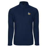 Sport Wick Stretch Navy 1/2 Zip Pullover-UCO with Mascot