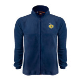 Fleece Full Zip Navy Jacket-UCO with Mascot
