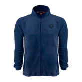 Fleece Full Zip Navy Jacket-Official Logo