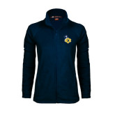 Ladies Fleece Full Zip Navy Jacket-UCO with Mascot